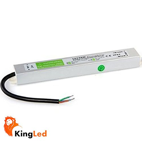 King LED - Alimentatore per strisce LED da 45 W, 12 V, impermeabile (IP67)