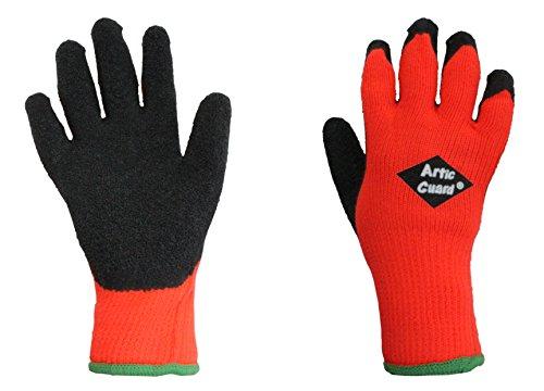 ARCTIC GUARD Cold Weather Grip Glove (Orange, Medium)