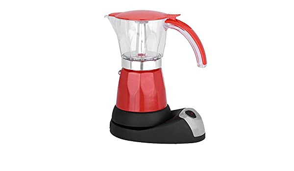 Cafetera eléctrica, 300 ml/6 tazas Cafetera eléctrica Moka de 480 W Cocina desmontable(rojo): Amazon.es: Hogar