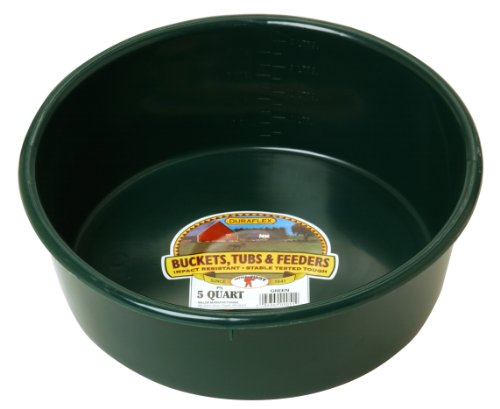 - LITTLE GIANT P5GREEN Dura-Flex Plastic Utility Pan, 5-Quart, Green