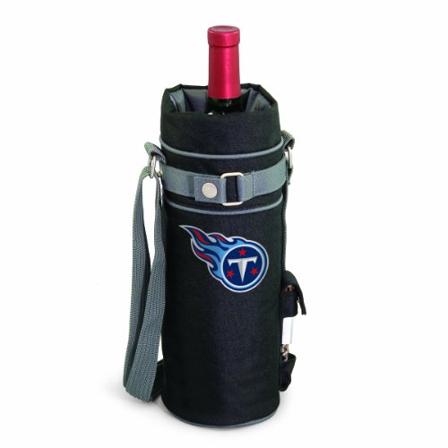 NFL Tennessee Titans Insulated Single Bottle Wine Sack with Corkscrew