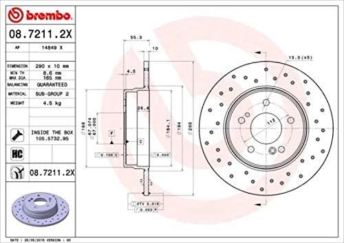 BREMBO Bremsbel/äge Bremsbelagsatz BREMBO XTRA LINE Sport Bremsscheiben /Ø290mm gelocht Warnkontakt hinten Hinterachse