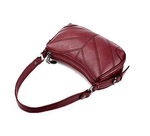 Bag Soft Diagonal Korean Bag Ajlbt Trend The Version Of Leather Bags Winered Package SYSZqB