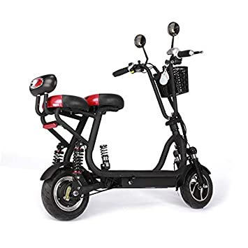 ZZKK Scooter eléctrico Mini Ligera Adulto Scooter pequeño Plegable ...