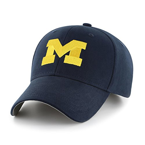 OTS NCAA Michigan Wolverines Children Cinch All-Star MVP Adjustable Hat, Kids, Navy (Michigan Wolverines Team Visor)