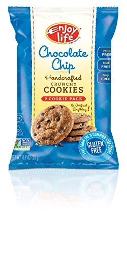 Enjoy Life Crunchy Cookie Snack Pack, Gluten-Free, Dairy-Free, Nut-Free and Soy-Free, Chocolate Chip, 0.9 Ounce Bag  (Pack of 12)