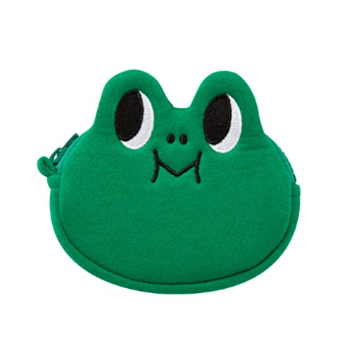LINE FRIENDS Leonard Mini Coin Pocket Wallet One Size Green