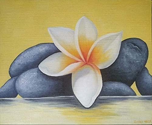 ArtyOwl Handmade Flower With Stone Painting