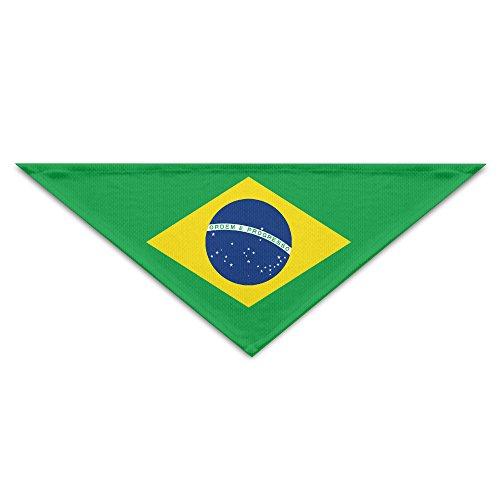 HDRAY Brazil Flag Dog Triangle Head Scarf Pet Bandana Collars - Usps Brazil