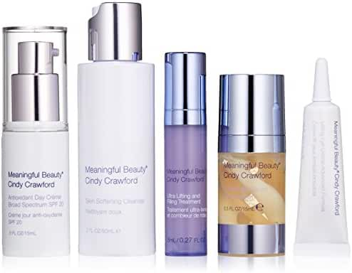 Meaningful Beauty Ultra 5 Piece Introductory Kit, Hydrating and Nourishing System for All Skin Types
