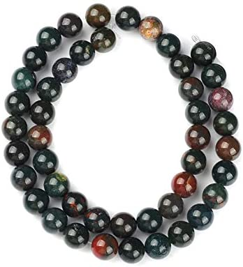 6MM Natural Bloodstone Beads for Jewelry Making Indian Bloodstone Stone Beads Bracelet Round Loose Beads