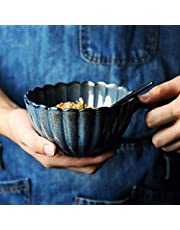 YASE-king Ceramic salad bowl Hand-baked bowl creative lace soup bowl coffee cup 5 inches