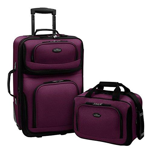 us-traveler-purple-rio-2pc-carry-on-lightweight-rolling-luggage-travel-bag-set