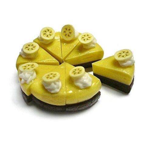 8 pcs Cut Sliced Banana Cake Dollhouse Miniatures Bakery from Unbranded