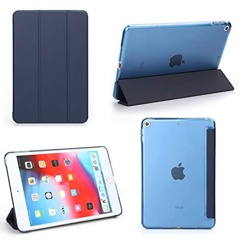 iPad Mini 5 Case - Bear Motion Premium Folio Case with Stand for Apple iPad Mini 5 (Support Smart Cover Function) (iPad Mini 5, Blue)