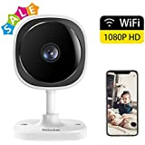 WeiSocket Wireless Security Camera, 1080P Indoor IP Surveillance Camera with Night Vision & Activity Detection Alert & Two-Way Audio for Home, Office, Shop, Baby, Pet Monitor [White]