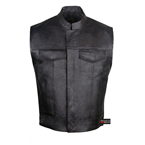 4 Pocket Leather Vest - 5