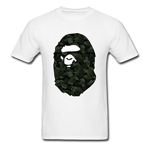 Justk Fashion Bathing Ape Logo For Men's T-Shirts Large ()