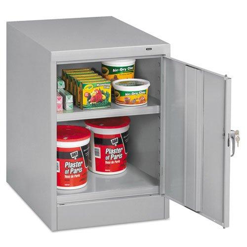 Tennsco 30quot; High Single Door Cabinet, 19w x 24d x 30h, Light Gray