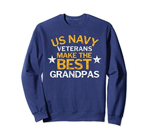 Unisex US Navy Veterans Make the Best Grandpas Grunge Sweatshirt XL Navy