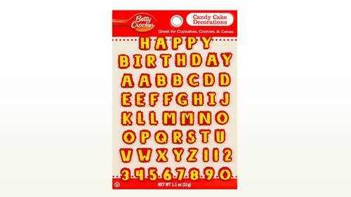BETTY CROCKER CANDY CARD ALPHABET, 1 (Candy Letters For Cakes)