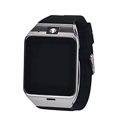 [Black Friday Smart Watch] Pacoco [Christmas Gift] Men Women Aplus Gv18 Bluetooth Smart Watch Phone GSM NFC Camera Waterproof Wristwatch for Samsung Iphone
