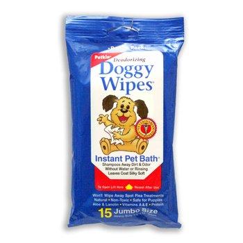Petkin Deodorizing Doggy Wipes Instant Pet Bath, My Pet Supplies