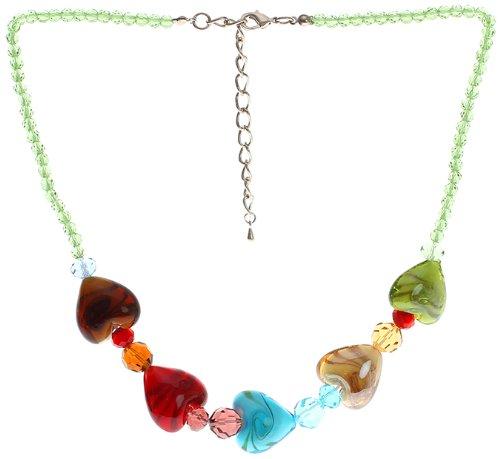 "Lova Jewelry ""Lovely Hearts"" Hand-Blown Venetian Murano Glass (Heart Venetian Necklace)"