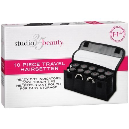 """Studio 35 Beauty 10 Piece Travel Curlers 1""""-1-1/4"""""""