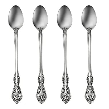 Oneida Michelangelo Fine Flatware Set, 18/10 Stainless, Set of 4 Iced Teaspoons