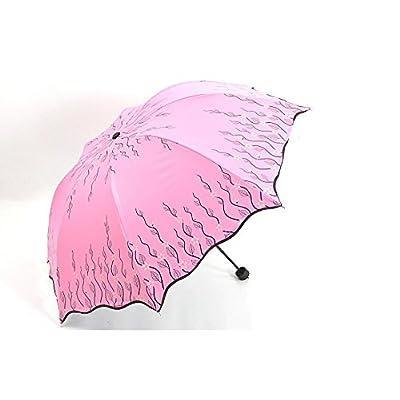 SHISHANG Nouvel argent Flash impression colle soleil noir ondulé parapluies parapluies parapluie parasol
