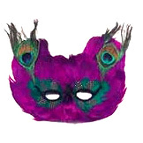 Peacock Feather Costume Eye Mask (Size:Standard)