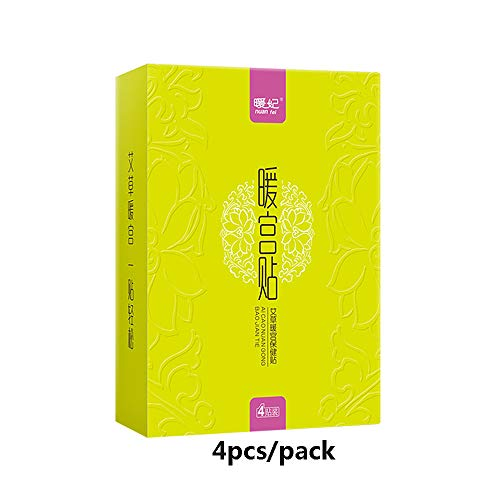 Chinese Medicine Acupuncture Treatment Patches, Moxibustion Menstrual Cramp Relief Pure Natural Heating Herb Pad, Women Period Dysmenorrhea Health Care Warm Therapy Pain Relieve, 1 Pack (4pcs)