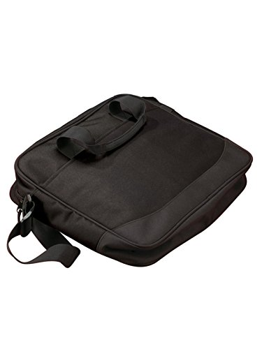 Big Accessories and BAGedge Vector Zippered Portfolio Bag, black, One Size