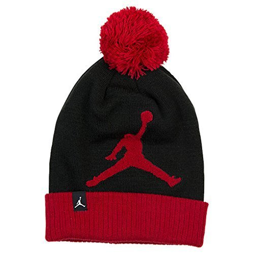 Chenille Beanie Hat - Nike Air Jordan Jordan Chenille Beanie Hat (8/20, Black/Gym Red/Black)