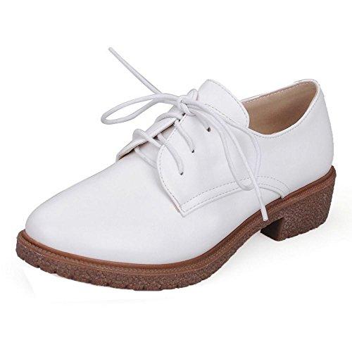 840c57c0 Zanpa Mujer Casual Zapatos Oxford Tacon Bajo Shoes White ...