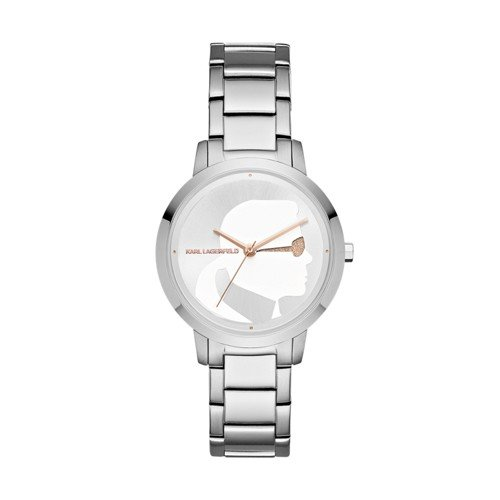 Karl Lagerfeld Women's 'Camille' Quartz Stainless Steel Casual Watch, Color Silver-Toned (Model: KL2220)