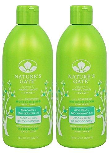 Nature's Gate Aloe Vera Moisturizing Conditioner, 18-Ounce Bottles (Pack of 2)