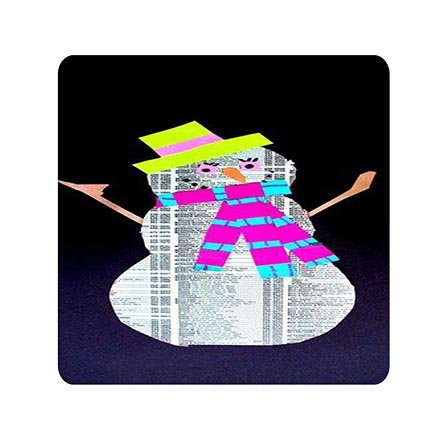 Trendy Personalised Nice Newspaper Snowman Ultra Thin Mouse Pad For Boys