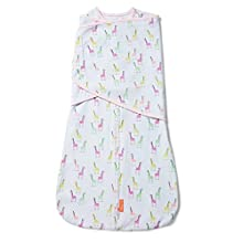 SwaddleMe Arms Free Convertible Swaddle - 1 Pack, Pink Giraffes, 6-9 Months