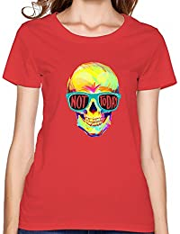 Not Today Colorful Skull Graphic Comfortable Short T Shirt