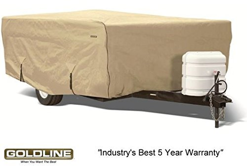 Goldline Premium Folding Pop Up Camper Cover Fits 12 to 14 FT - TAN
