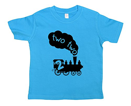 Funny-2-Year-Old-T-Shirt-Two-Two-Train-NewbornTodderYouth-Funny-Threadz
