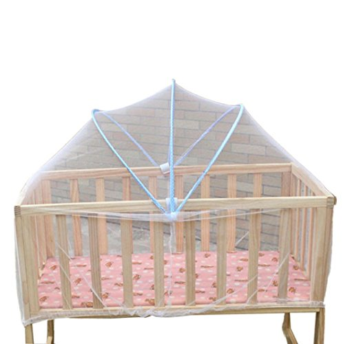 Fineser Baby Crib Tent Safety Net Canopy Cover,Foldable Baby Bed Mosquito Net Tent(Random color) from Fineser