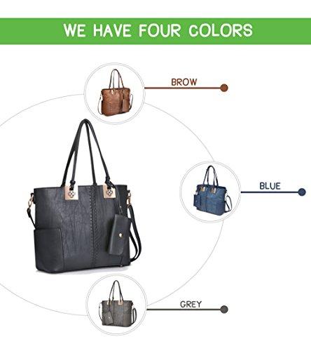 Handle Hobo Handbags Women Shoulder Tote Top Bags Black Leather Purses Women PU Bags Bags wSSEq48