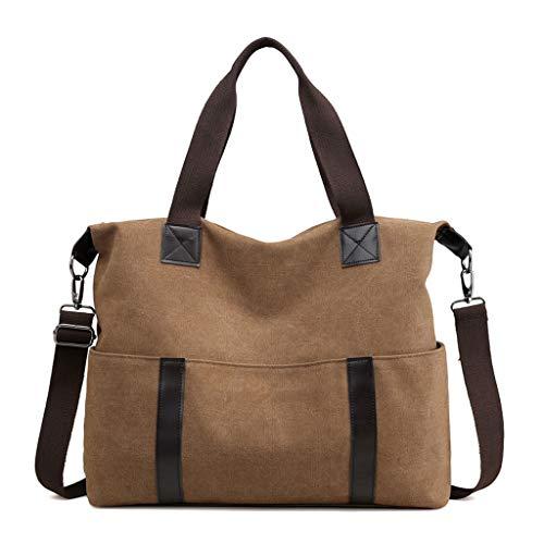 Épaule Messenger Brown CHENGYI Mode Satchel Crossbody Sacs De Voyage Capacité Toile Casual Bag Grande Mesdames S55q6B