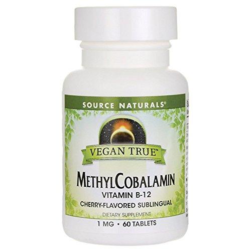 SOURCE NATURALS Vegan True Methyl Cobalamin 1 Mg Cherry Lozenge, 60 Count