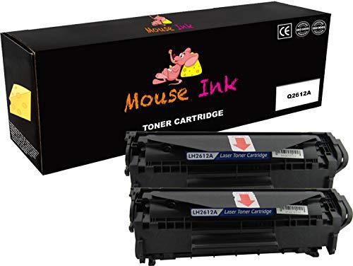 Laser Hewlett Mouse Packard (2 Packs Mouse Ink Compatible HP Q2612A Black Toner Cartridge HP Laserjet Laserjet 1010 1012 1018 1020 1022 1022n 1022nw 3015 3020 3030 3050 3052 3055 M1319 M1319f MF4690 MF4690)