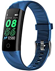 AK1980 Fitness Tracker, Activity Tracker Watch with Heart Rate Monitor Blood Pressure Blood Oxygen Sleep Monitor IP68 Waterproof Smart Watch Step Tracker Calorie Counter for Kids Women Men