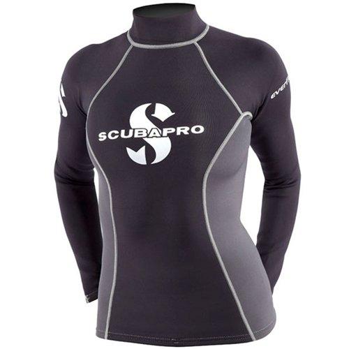 Scubapro Dames Everflex 1 Mm T-shirt Rush Guard Zwart